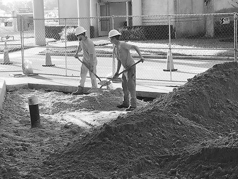 Pinnacle Site Solutions field crew members completing site prep.