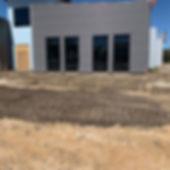 Sidewalk being added to Destiny Church in Newberry, Florida