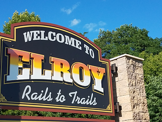 Elroy city sign