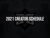CREATORS SCHEDULE 2021