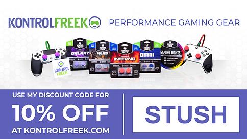 Stush KontrolFreek Partner Code Banner