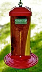 Red Cedar Hummingbird Feeder