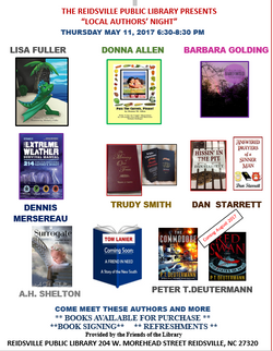 Author night flyer