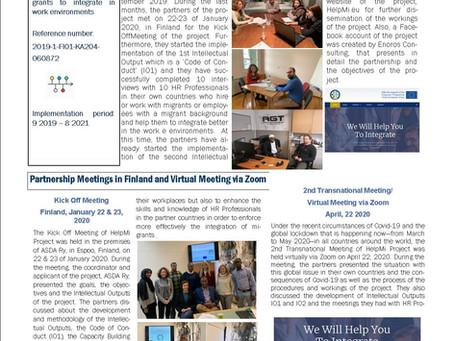 1ο Newsletter για το Πρόγραμμα HelpMi
