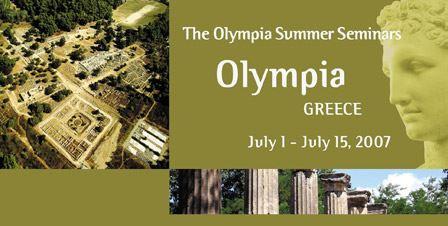 Θερινά Σεμινάρια στην Αρχαία Ολυμπία για το έτος 2007 - Διεθνείς συμμετέχοντες επιλαμβάνονται την αν