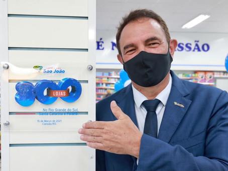 São João, maior rede de farmácias do Sul, atinge marca de 800 lojas