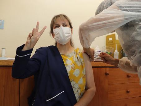 Primeira dose de vacina contra Covid-19 é aplicada em Piratini