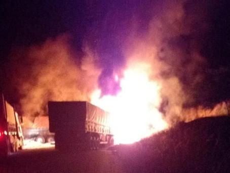 Acidente com caminhões tem vítima fatal em Piratini