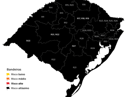 Rio Grande do Sul deve continuar em bandeira preta na próxima semana