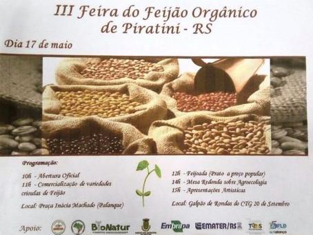 3ª Feira do feijão orgânico ocorrerá na próxima semana