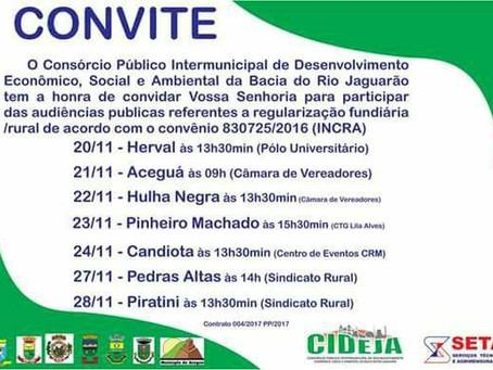CIDEJA e INCRA realizam audiência para regularização de lotes em Piratini e região