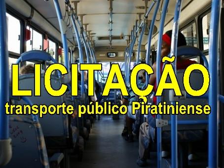 Concessão do transporte coletivo de passageiros na linha Piratini x Cancelão