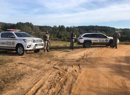 Brigada realiza ação simultânea na zona rural da região