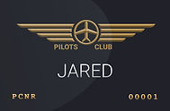 Fly with me - Jared Clubkarte