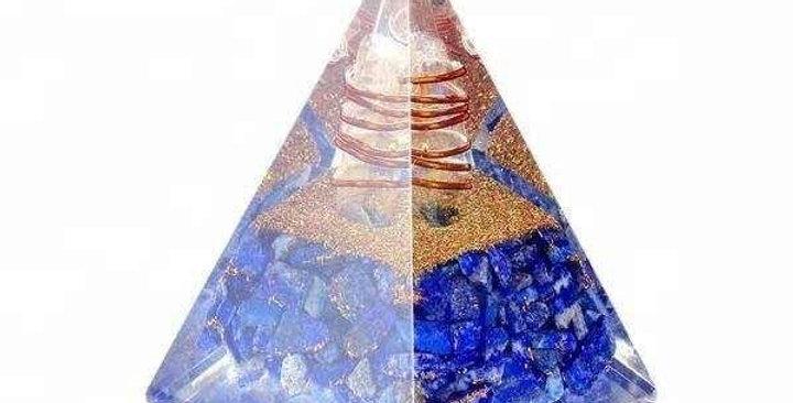 Lapish Lazuli Orgone Pyramid