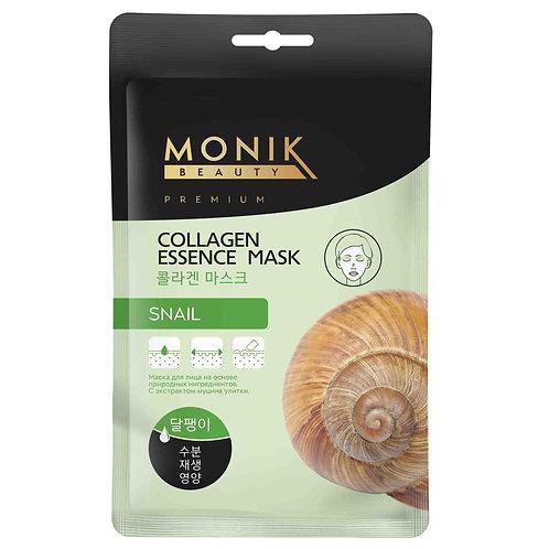 SNAIL Тканевая маска для лица с экстр. Муцина Улитки MONIK BEAUTY