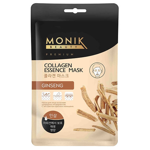 GINSENG Тканевая маска для лица с экстр. Женьшеня MONIK BEAUTY