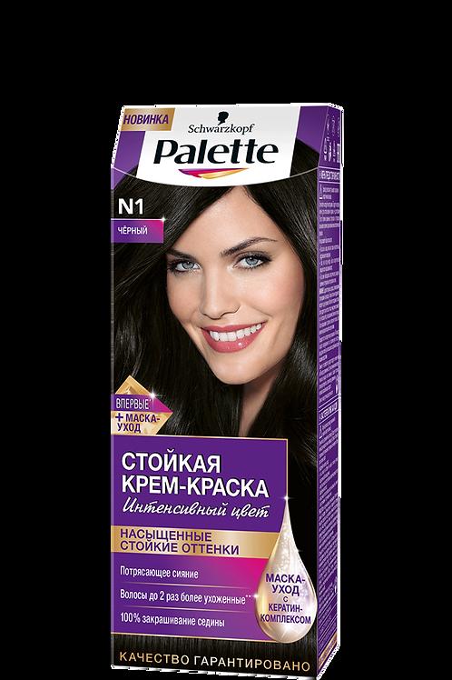 N1(1-0) Чёрный Краска для волос Palette (Палетт)