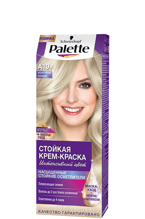 A10(10-2) Жемчужный Блондин Краска для волос Palette (Палетт)