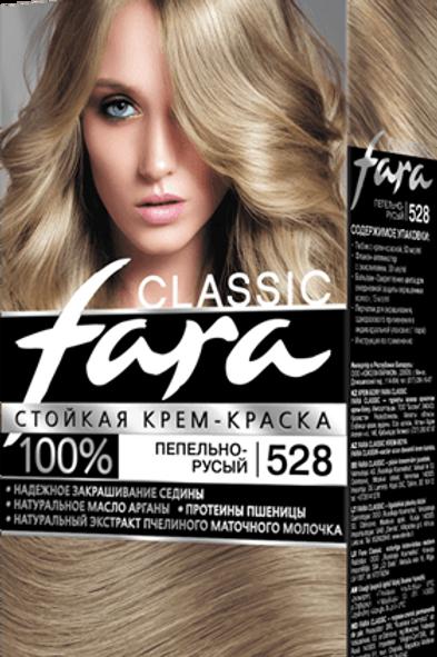 FARA Classic 528 Пепельно-Русый стойкая крем-краска 50 мл