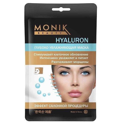 HYALURON Глубоко увлажняющая тканевая маска с гиаллурон. кислотой MONIK BEAUTY