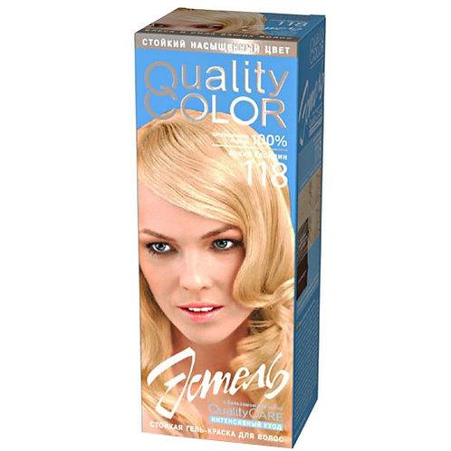 Гель-краска для волос № 118 тон  Яркий Блондин ESTEL (ЭСТЕЛЬ) Quality Color