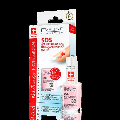 Eveline Nail Therapy PROFESSIONAL SOS для тонких и расслаивающихся ногтей