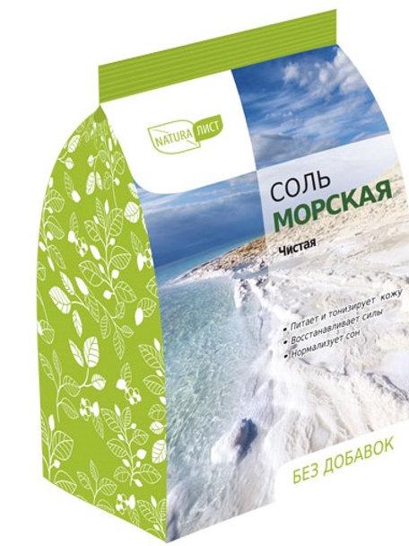 "Соль для ванн ""Морская"" NATURALIST Артколор 800 гр."