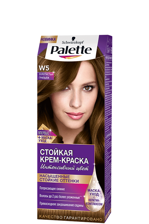 W5 Золотистый Грильяж Краска для волос Palette (Палетт)