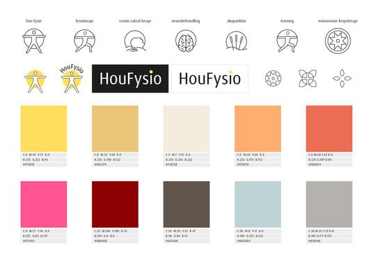 Hou Fysio_oversigt_farver_ikoner_logoer.