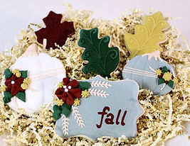 Thanksgiving Sugar Cookies Fall Autumn