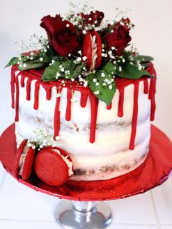 Red Drip Cake