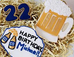 Beer Birthday Sugar Cookies