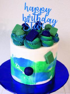 Blue & Green Cake