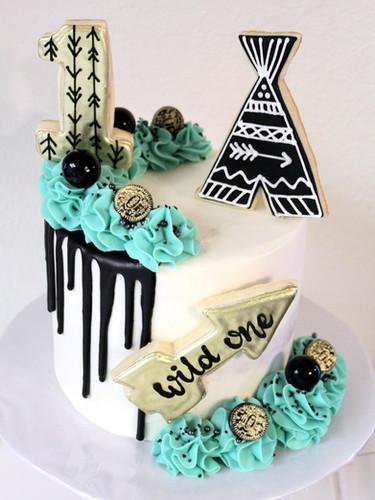 Tribal Wild One Cake