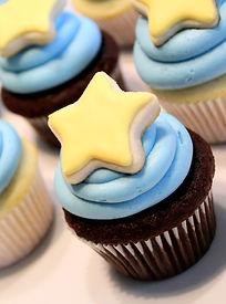 Mini Yellow Star Cupcakes Baby Shower