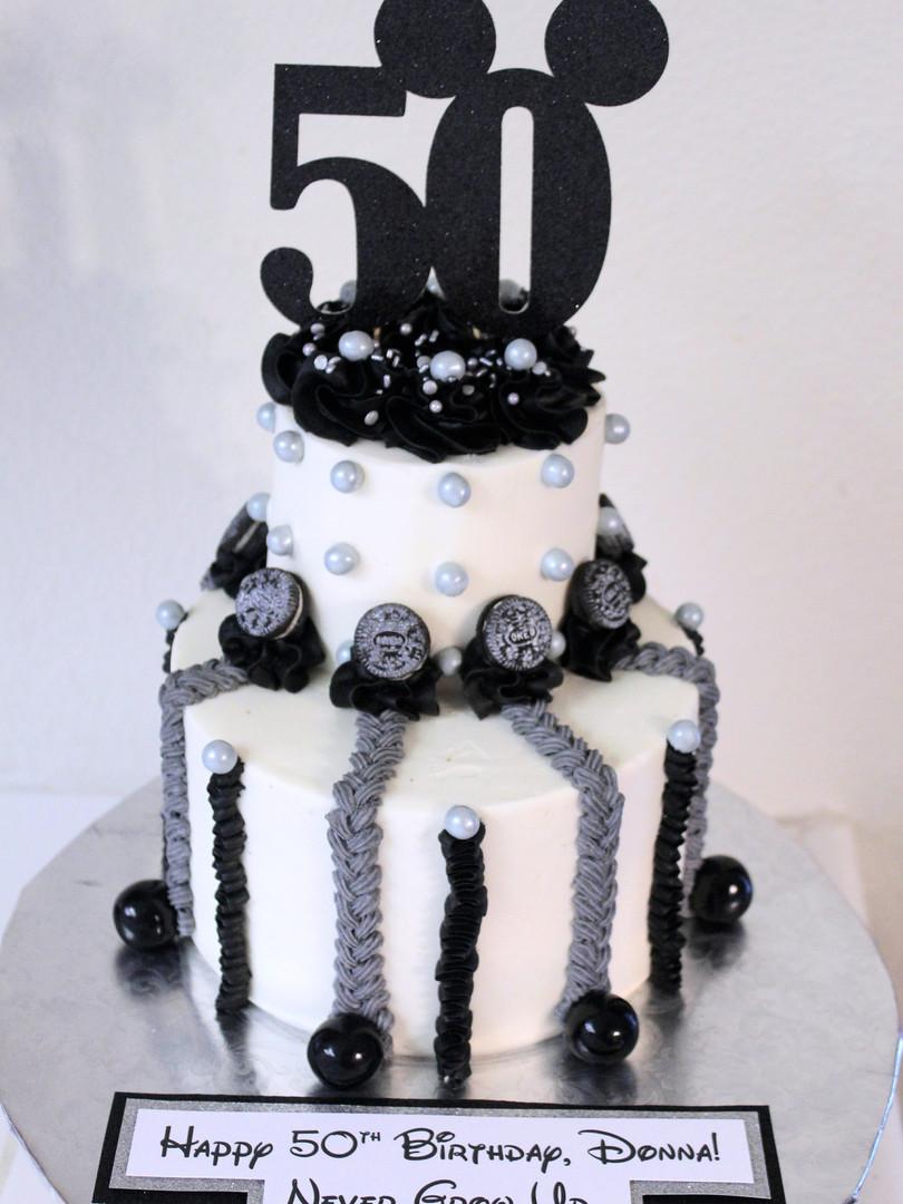 Black & Silver Mickey Cake