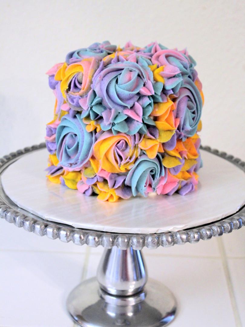 Pastel Floral Mini Cake