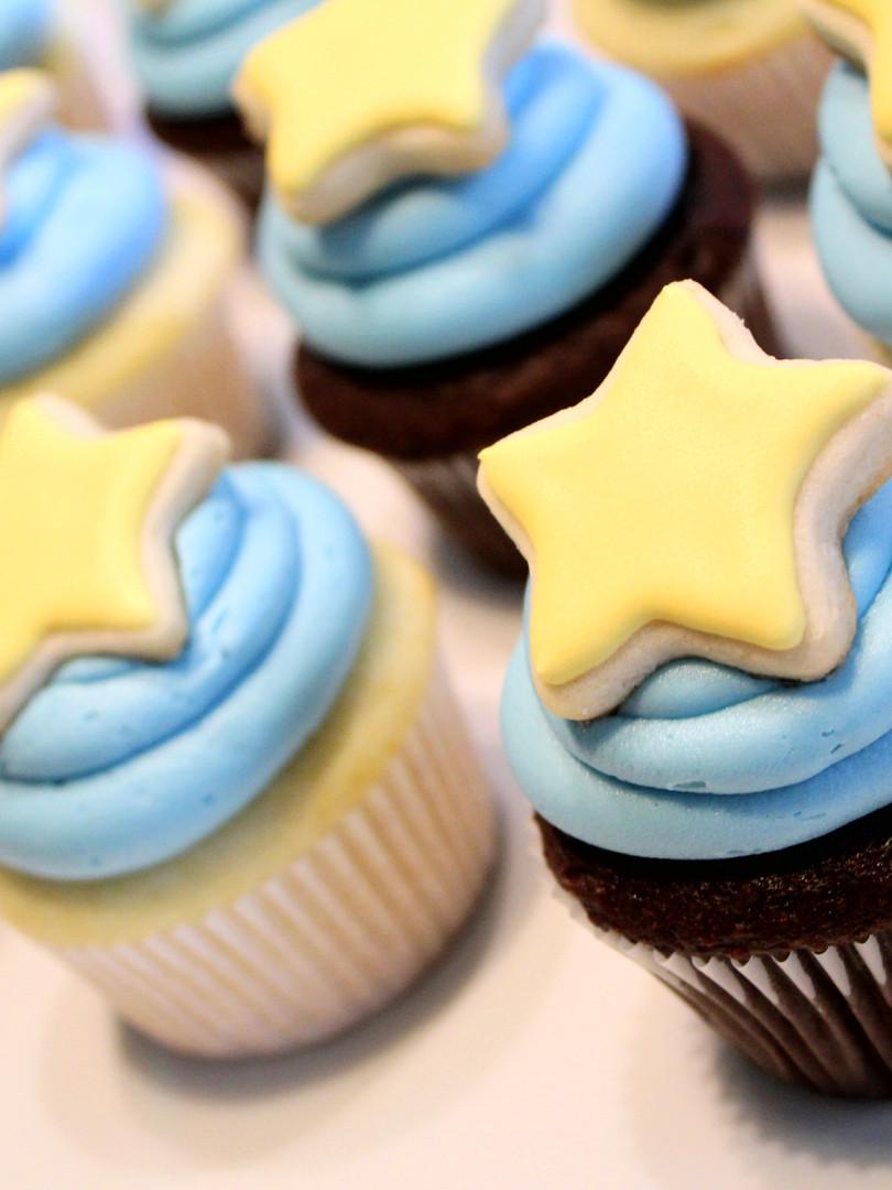 Baby Star Cupcakes