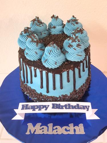 Blue Chocolate Cake