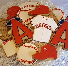 Anaheim Angels Baseball Sugar Cookies
