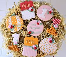 Fall My Little Pumpkin Sugar Cookies