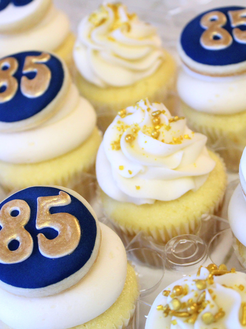 85th Birthday Cupcakes