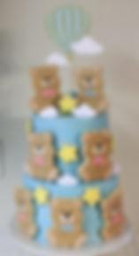 Teddy Bear Baby Shower Gender Reveal Cake