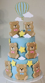 Teddy Bear Baby Shower Gender Reveal Cake