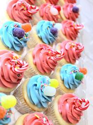 Christmas Gumdrop Cupcakes