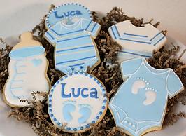 Blue Baby Shower Boy Sugar Cookis