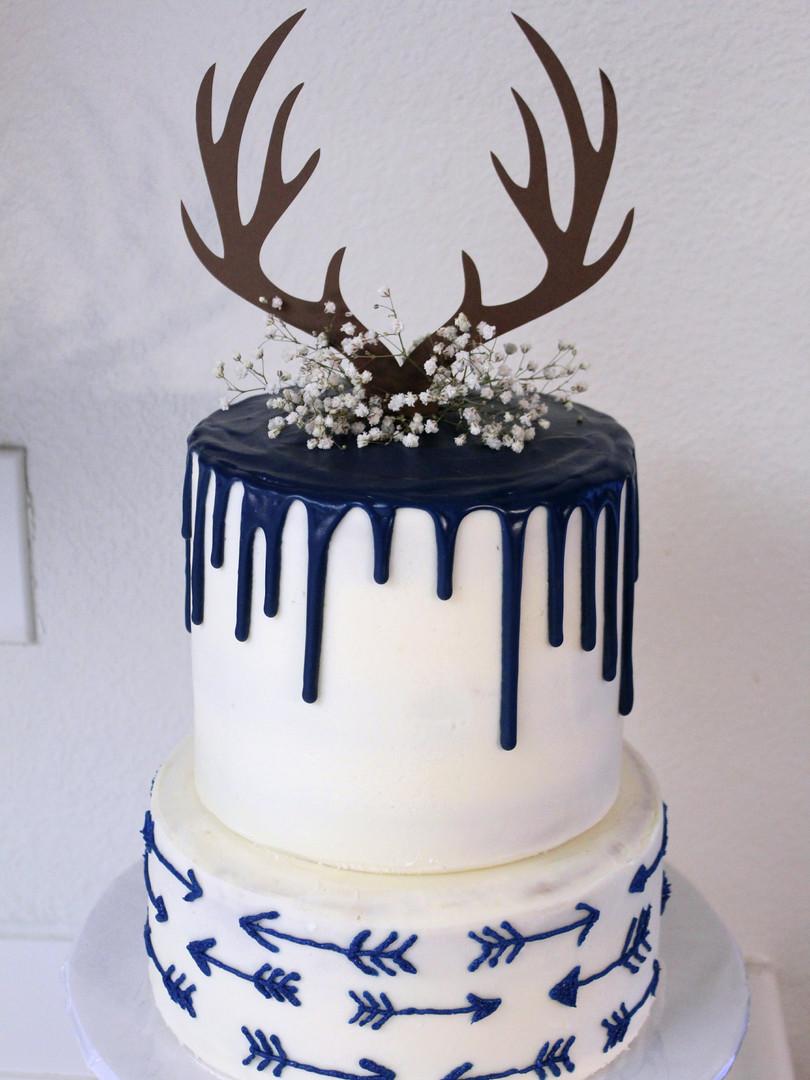 Arrows & Antlers Cake