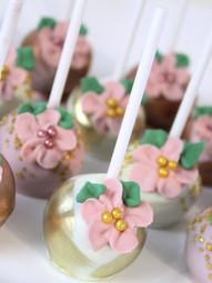 Floral Bridal Shower Cake Pops