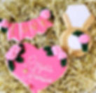 Engagement Pink and Gold Congratulations Sugar Cookies
